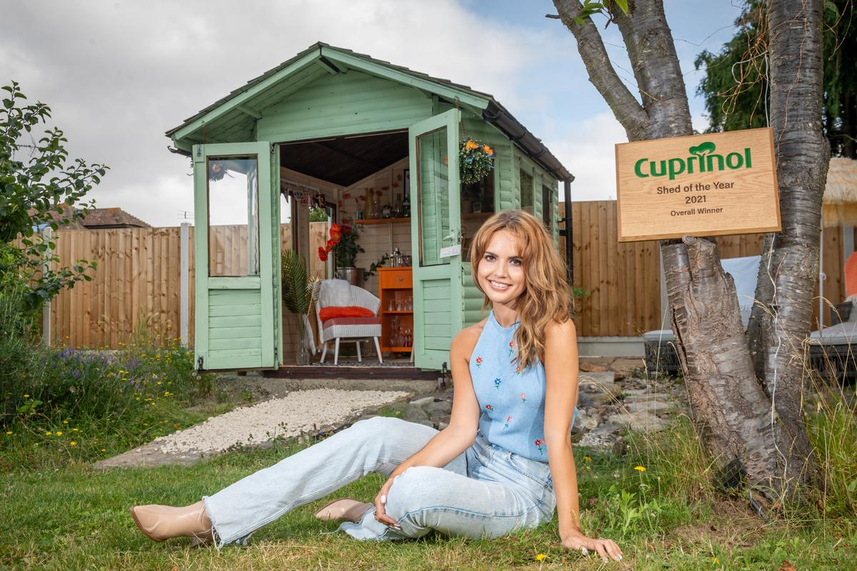 Danielle Zarb-Cousin has won the Cuprinol Shed Of The Year 2021 competition with her shed, Creme de Menthe