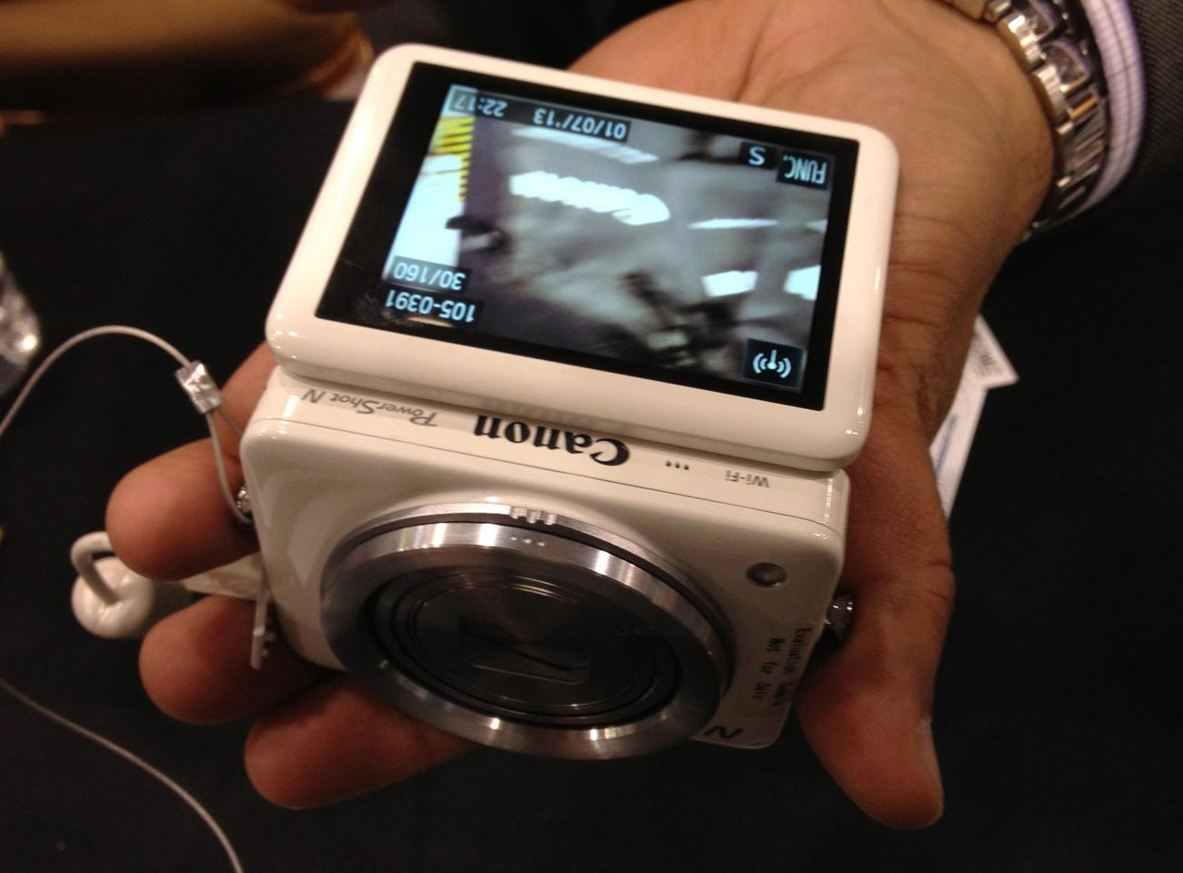 The Canon Powershot N at CES 2013