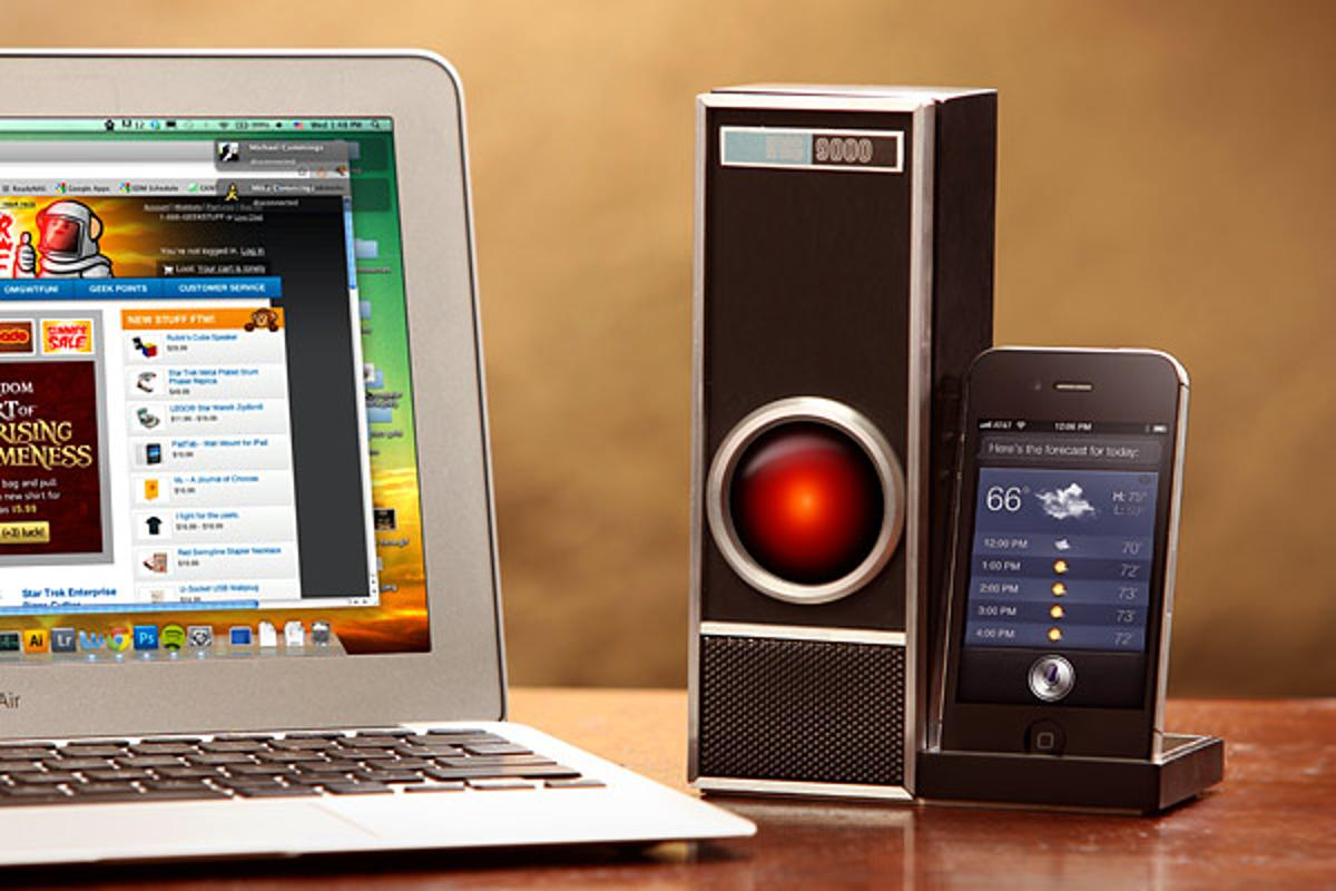 The IRIS 9000 provides voice control of Siri at a distance