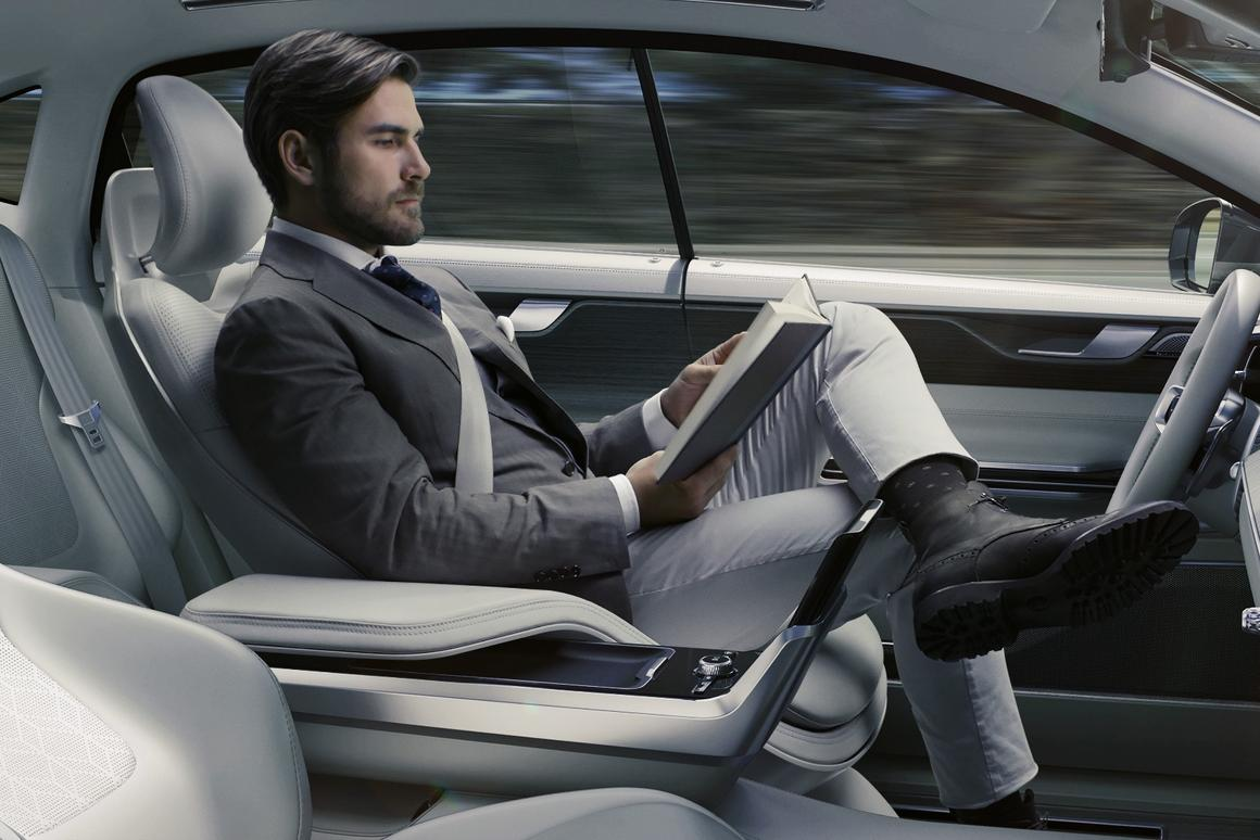The driver can choose to drive, work or relax