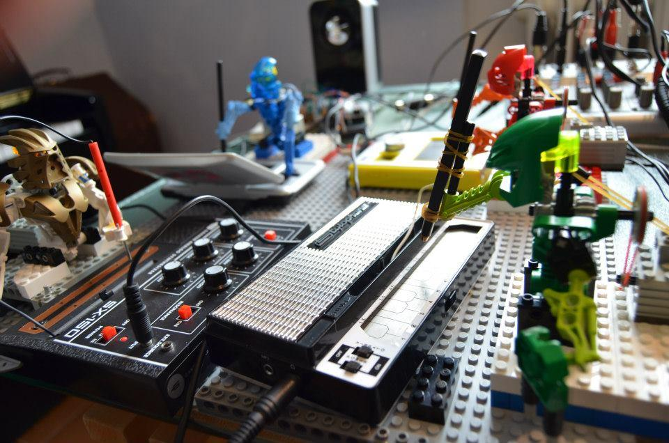 "The ""Toa Mata Band"" is made up of several tiny robotic LEGO figures programmed to play a variety of instruments."