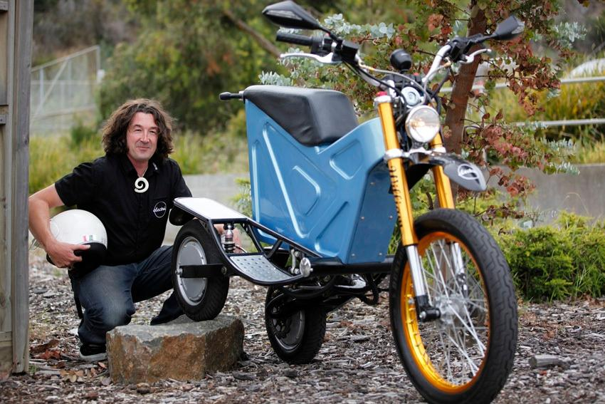 Inventor Simon Williams and his Deliver-E Trike