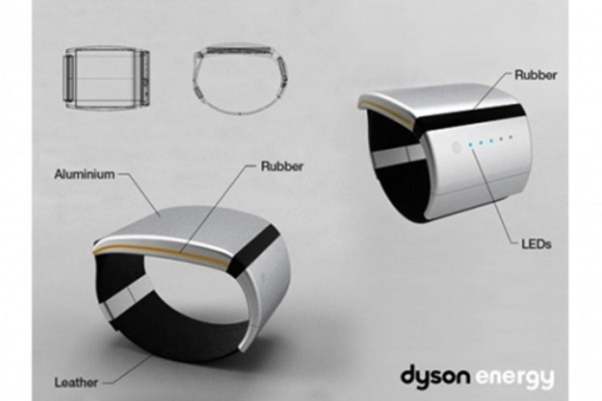 Dyson energy bracelet design using body heat and ambient temperature to produce electricity