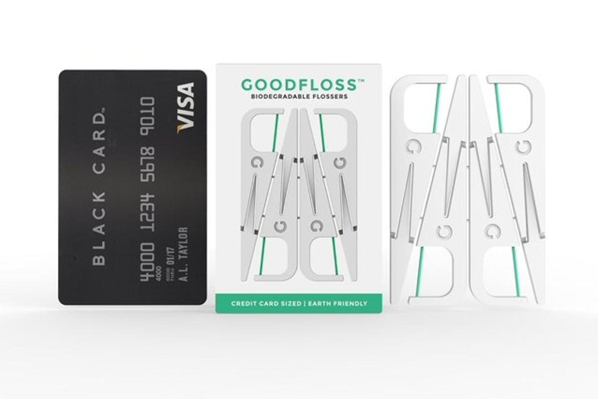 Goodwell has followed up its eco-friendly toothbrush with biodegradable flossing harps