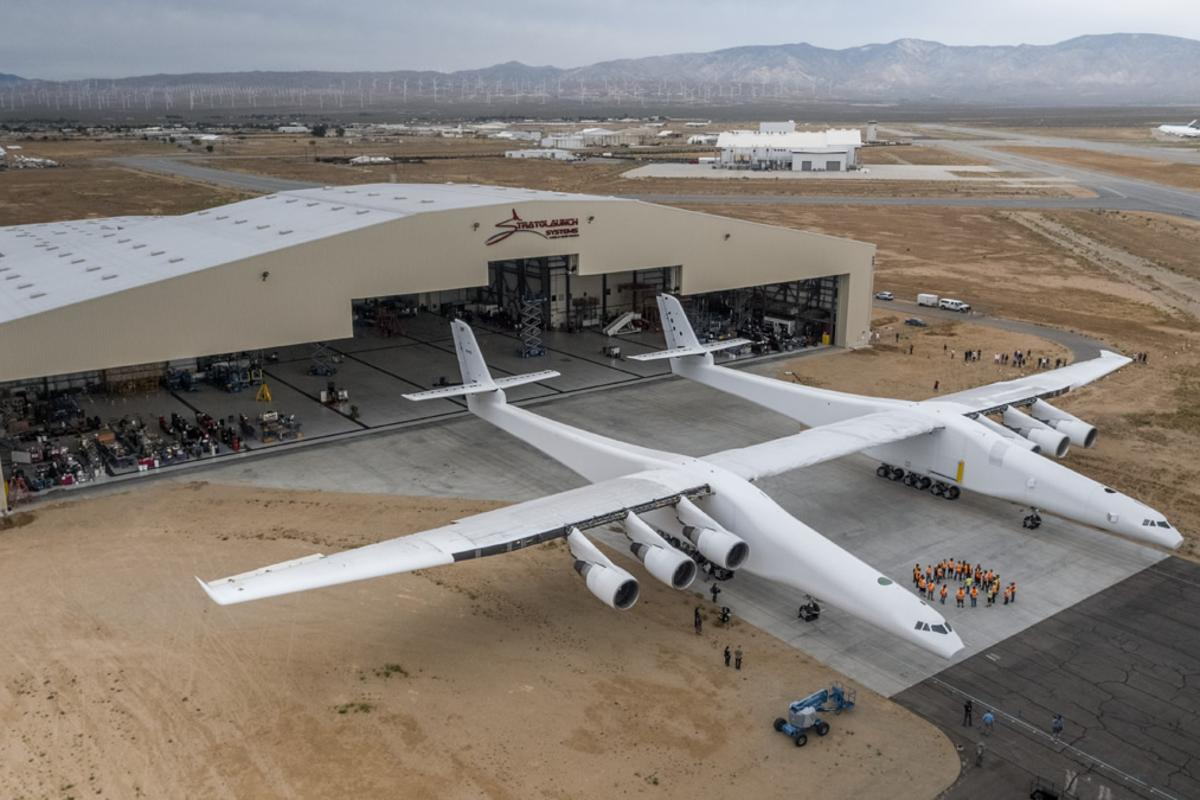The world's largestplane is out of itshangar for the first time