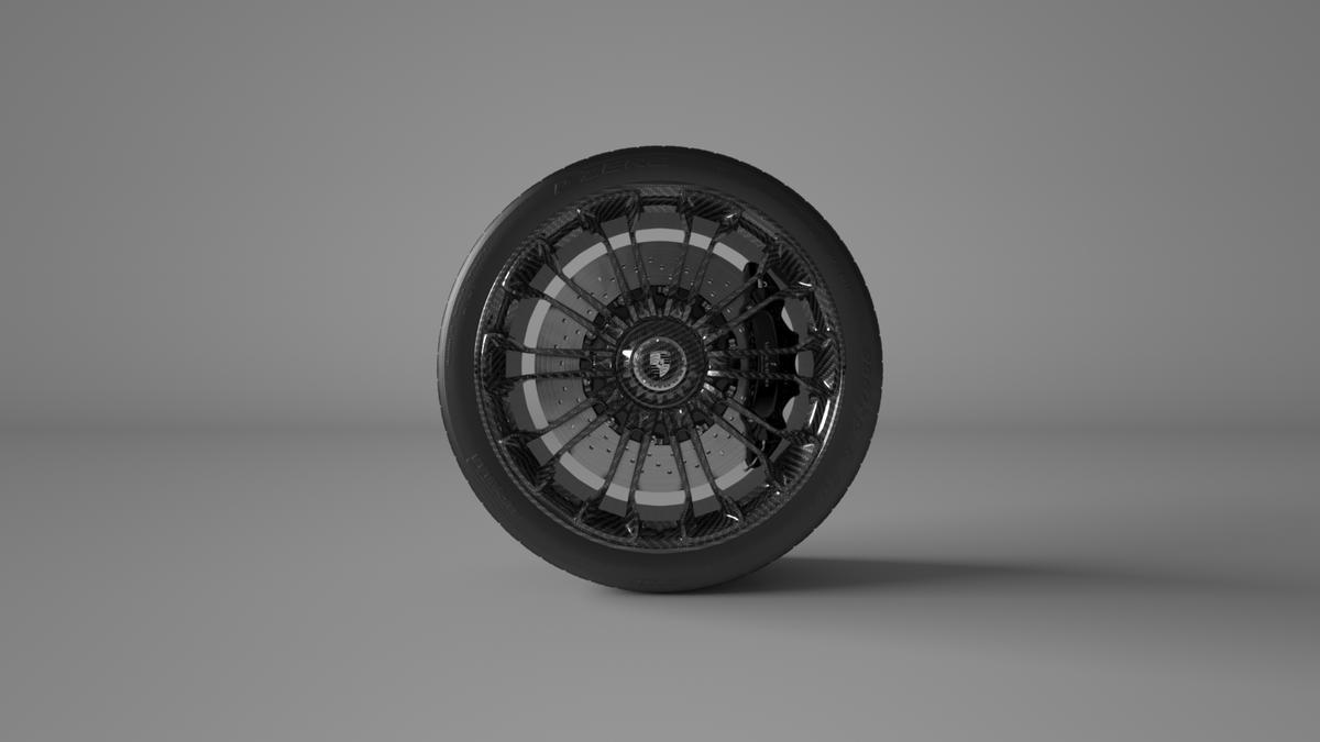 Vitesse AuDessus carbon fiber Porsche 918 wheel