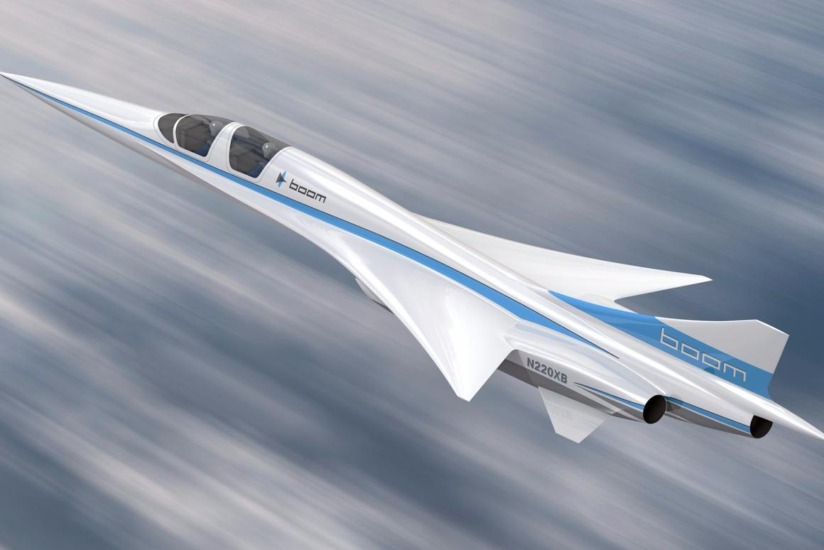 Artist's concept of the Boom XB-1 prototype demonstrator