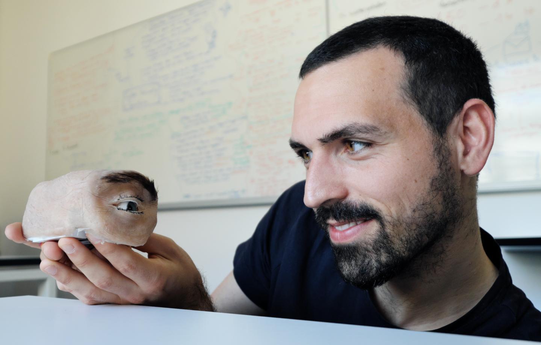 Marc Teyssier with the Eyecam
