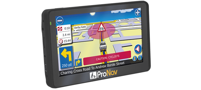 ProNav PNN420 with the ProNav HGV Cyclist Alert software