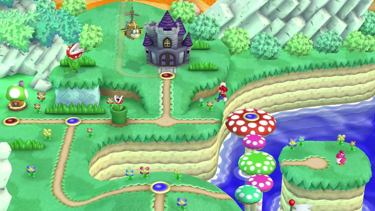 The map system makes it easy to see where you are heading, where the bonus levels are and how far you have to go to reach Princes Peach's castle