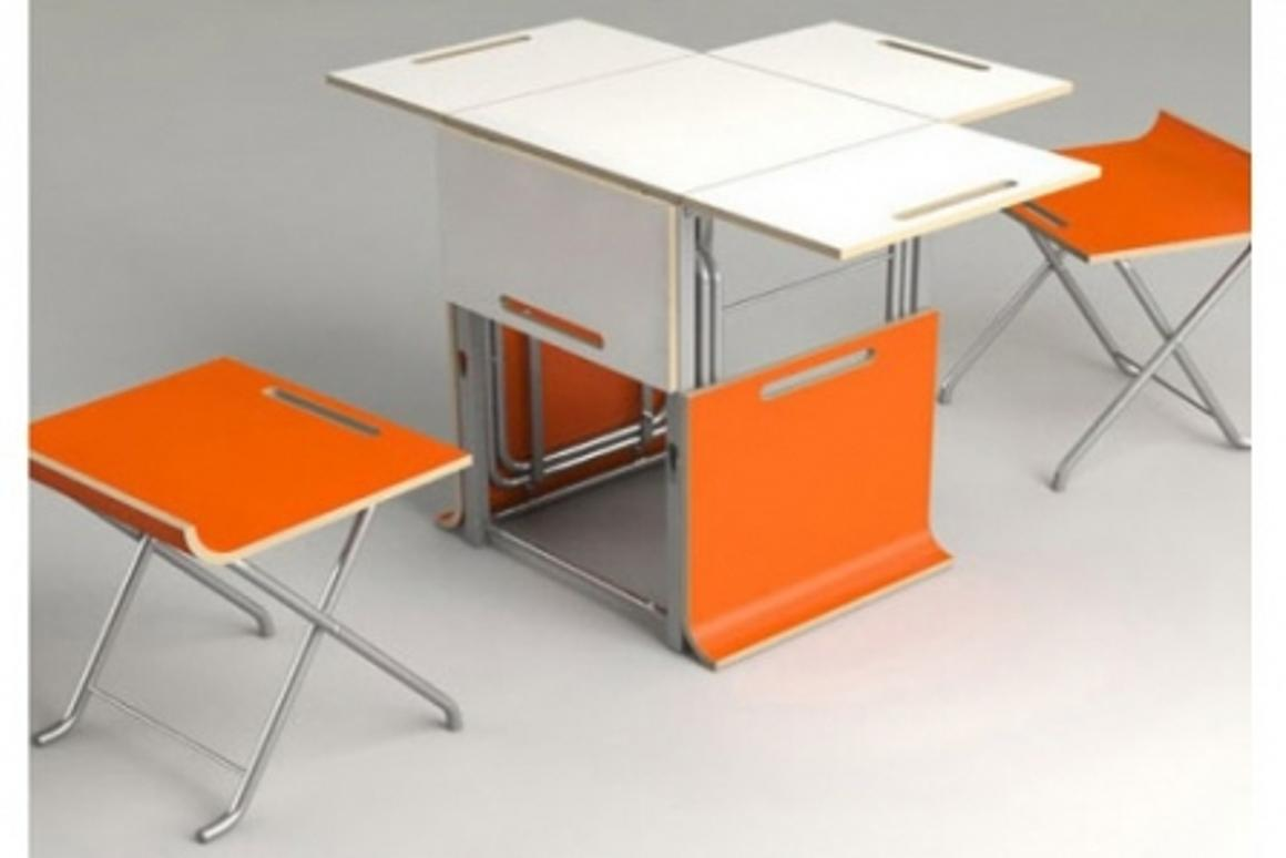 Paket dining set offers a clever dining solution for people short on space
