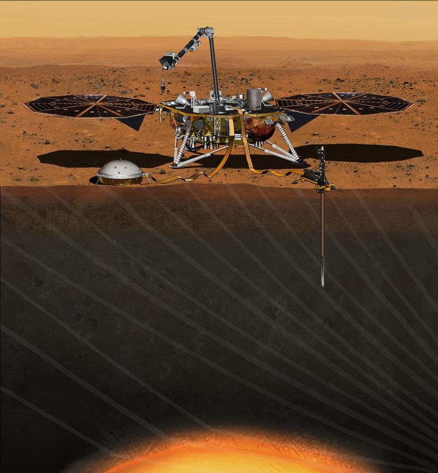Artist's concept of the InSight lander