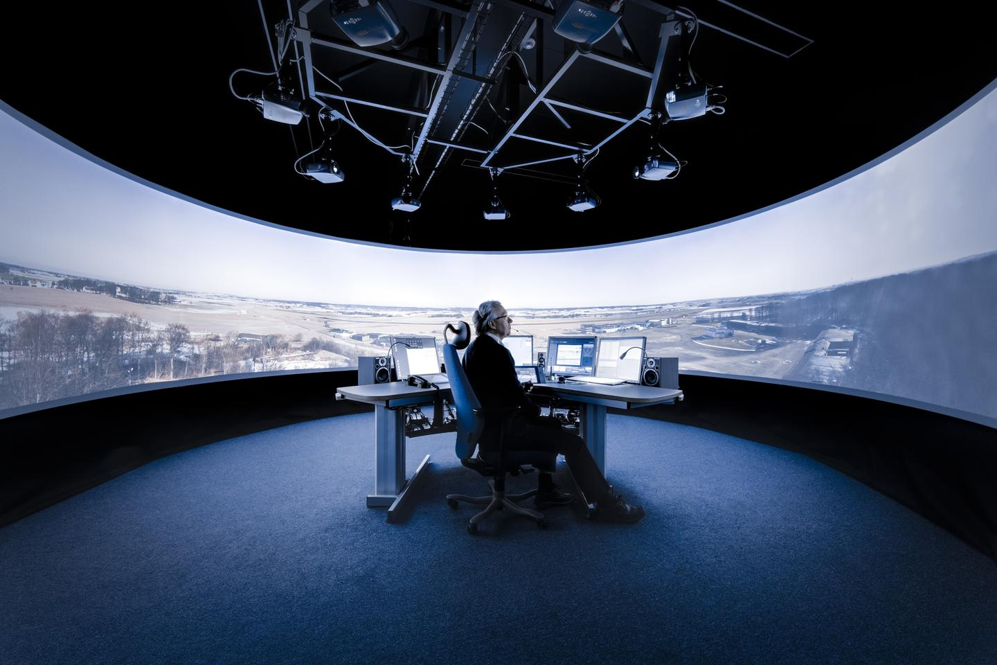 Saab's remote aircraft tower places human air controllers miles away from the airfield to consolidate operations (Photo: Saab)
