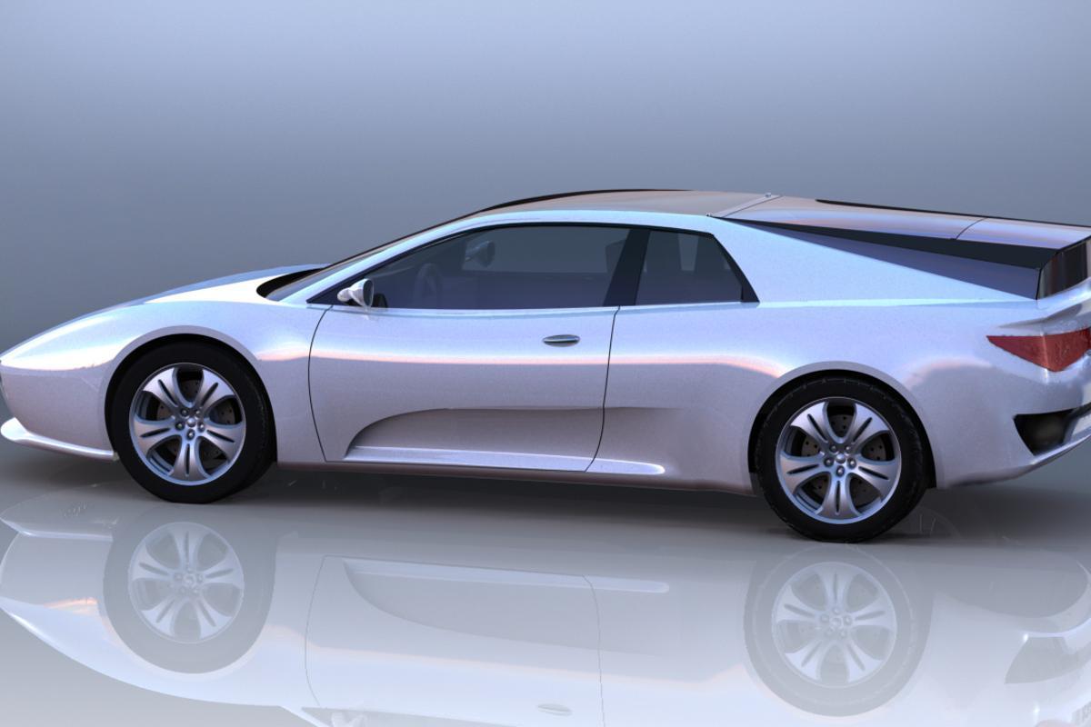 Xelestine's transformable sportscar concept in wagon mode