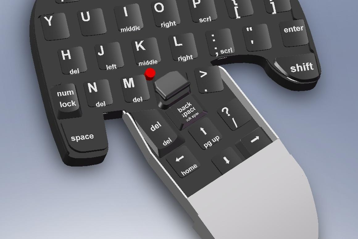 Combimouse is both keyboard and mouse
