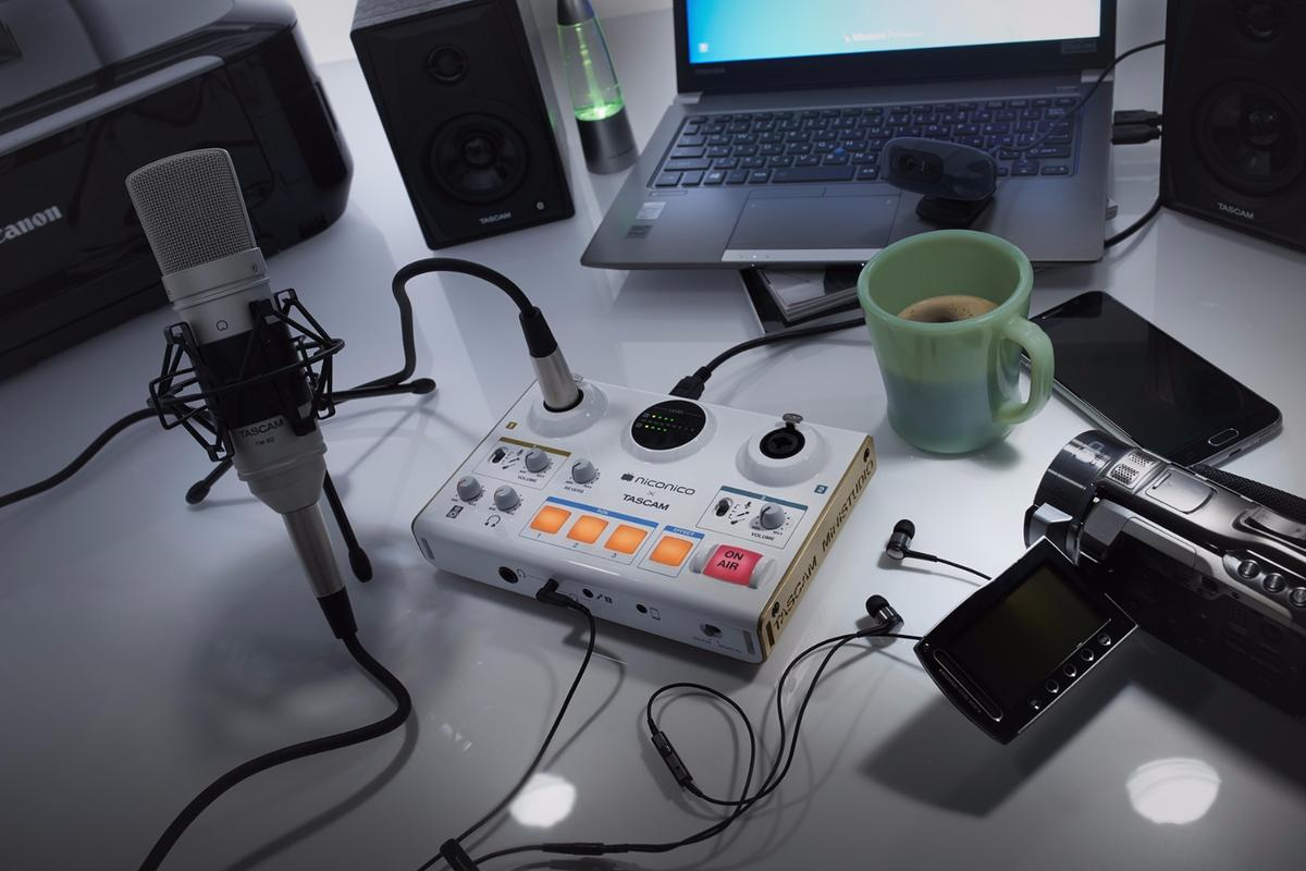 Tascam says that its Ministudio series will make podcasting and online broadcast production a breeze