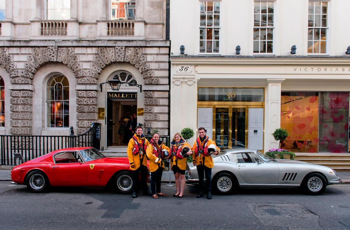 The cars donated to the Royal National Lifeboat Institution (UK) by the late Richard Colton: a 1960 Ferrari 250 GT short-wheelbase SWB Berlinetta which sold for £7,392,000 (US$11,439,774), and a 1967 Ferrari 275 GTB/4 which sold For £2,161,600 ($3,345,267), lifting the late Richard Colson's bequeathment to near $15 million dollars.