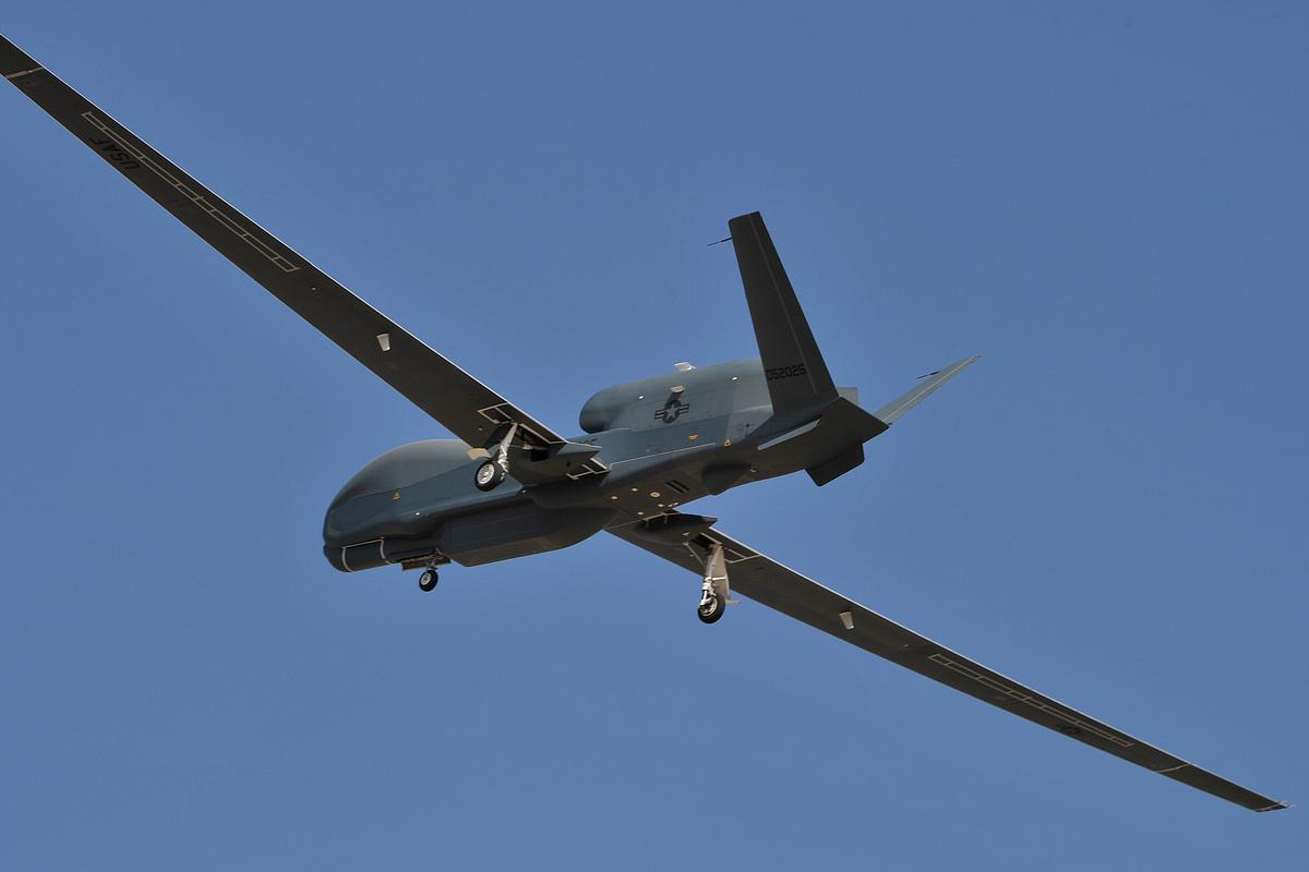 First flight for MP-RTIP equipped Global Hawk (Photo: Northrop Grumman)