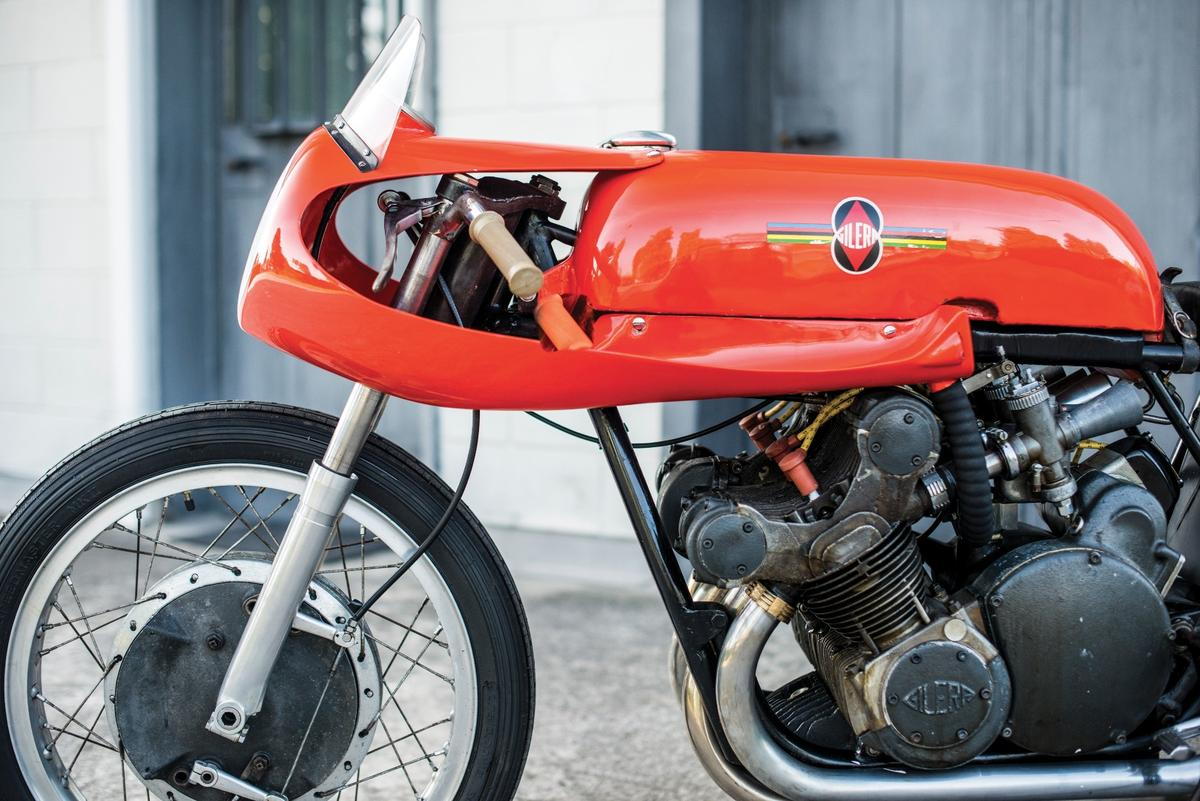 This 1957 Gilera 500cc Grand Prix bike is one of just 15 ever made by the factory. It is the final iteration of one of the most successful bikes in history.