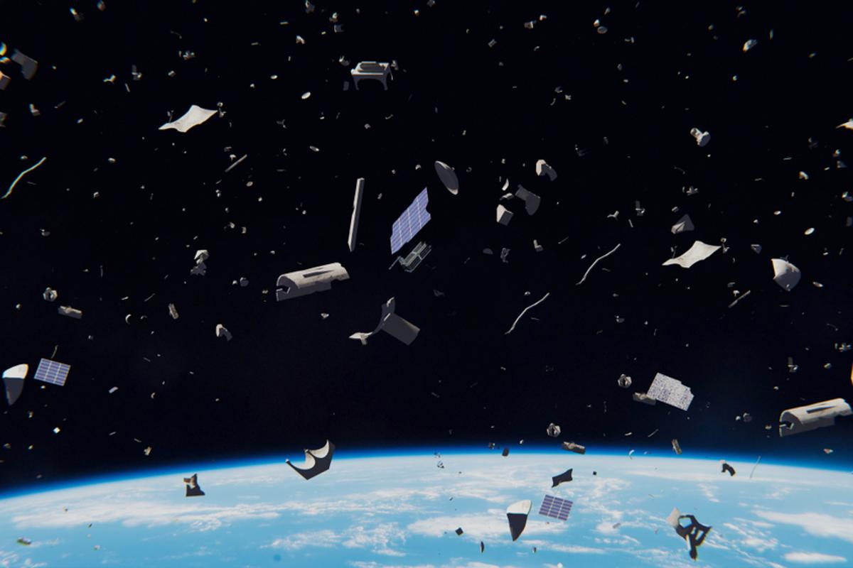 An artist's (highly exaggerated)conceptionof space debris