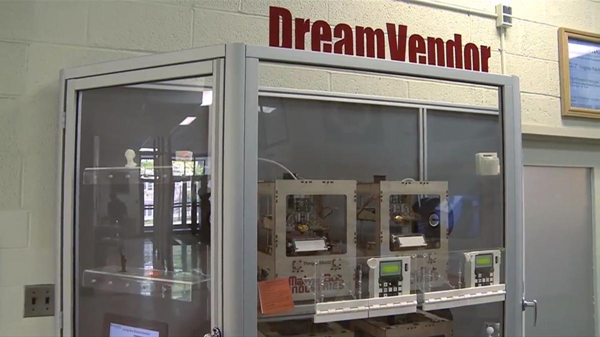 The DreamVendor 3D printing vending machine in Virginia Tech's College of Engineering