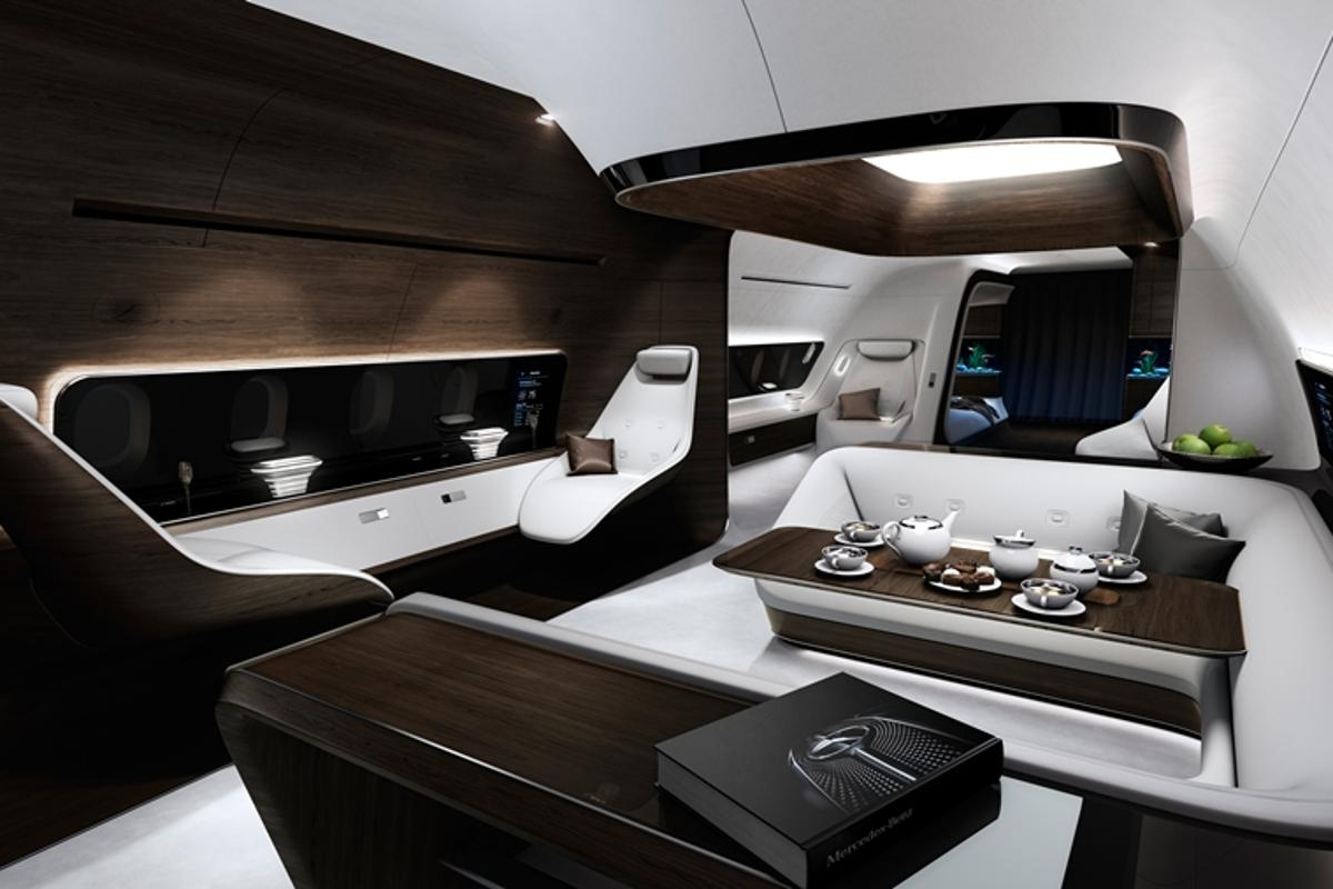 Mercedes and Lufthansa have partnered to design some new high-end aircraft cabin concepts for medium- and long-haul flights