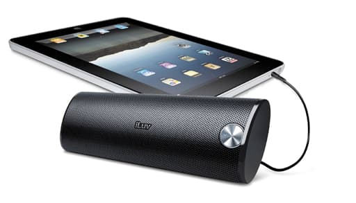 The iLuv iSP150 portable sound bar suits any audio device with a 3.5mm jack