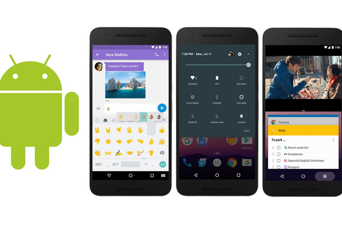 Android 7.0 Nougat updates: more emojis, quick control access, split-screen app viewing