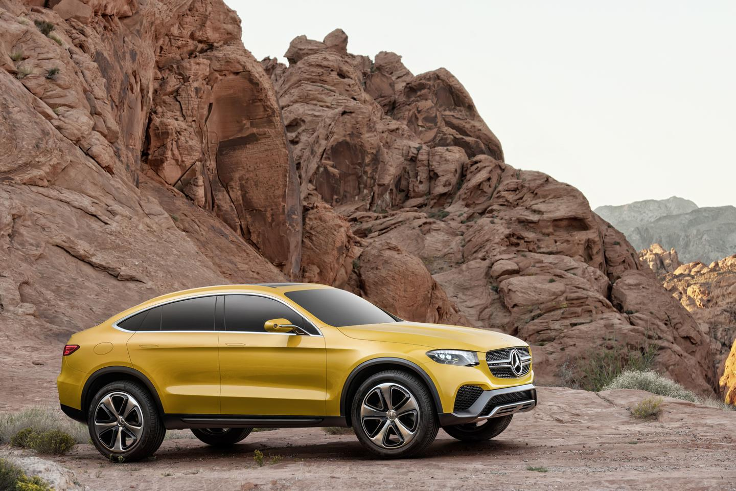 "The Mercedes-Benz Concept GLC Coupé is a ""near-production study"""