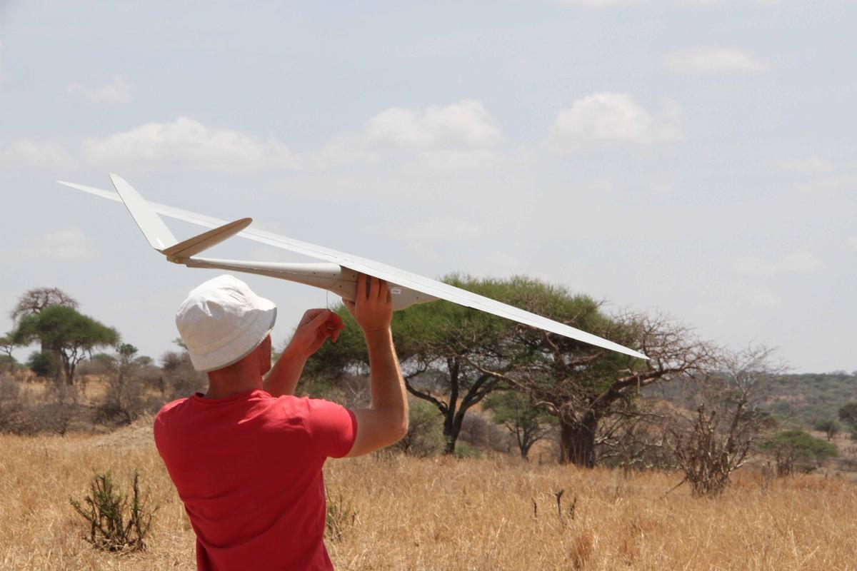 A Bathawk anti-poaching drone during field-testing