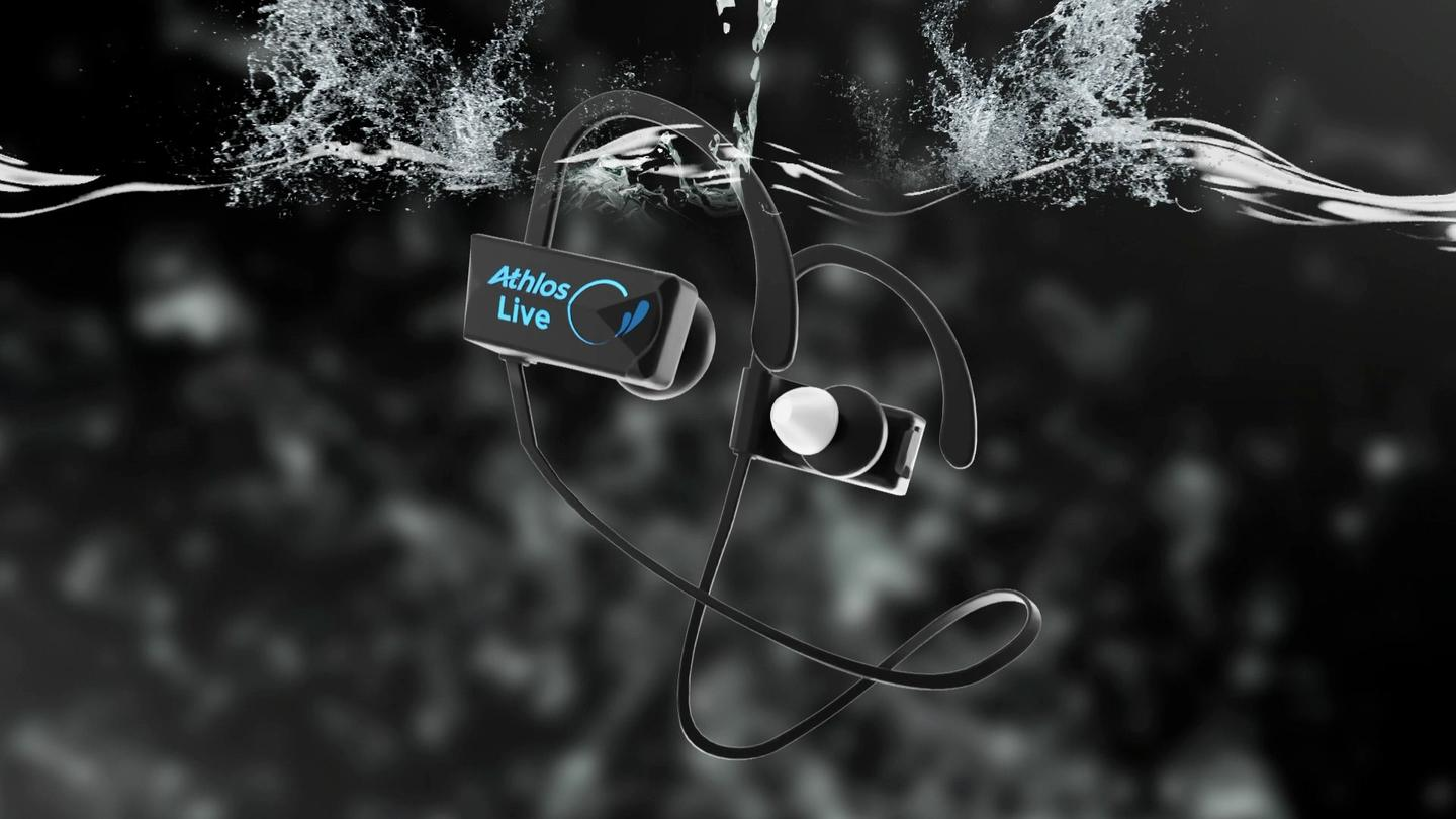 The Athlos Live earbuds are reportedly submersible to a depth of 3 meters (9.8 ft) for up to four hours