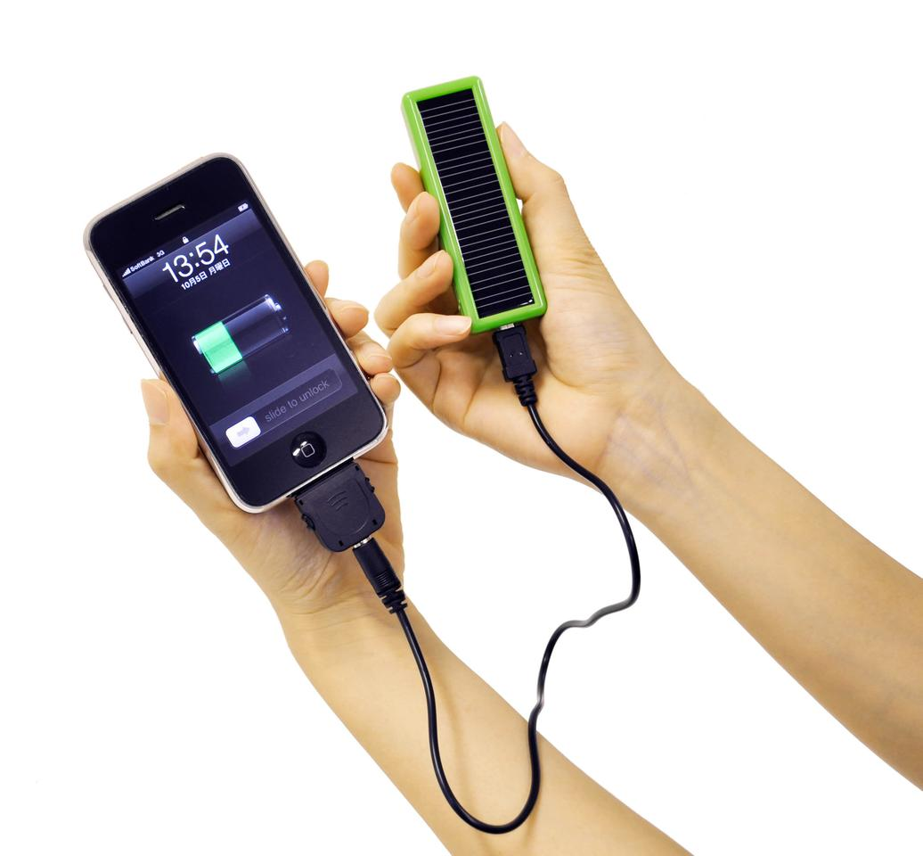 The iCharge Eco is a three-way charger - solar, AC and USB. It comes in two models, a smaller Lite version and the larger DX