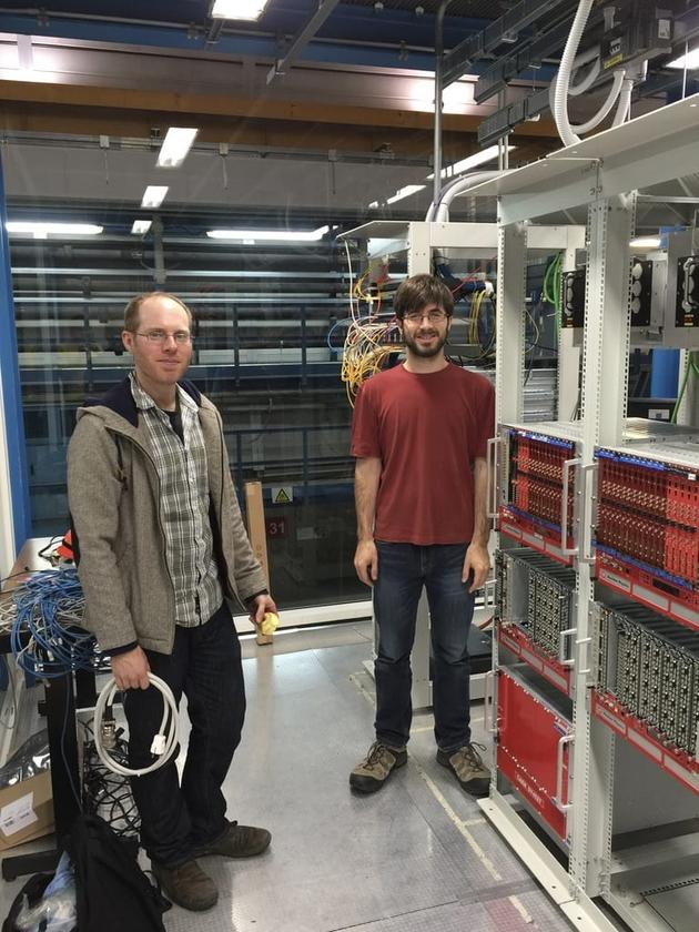 Researchers Daniel Coderre (left)andChristopher Tunnell (right)