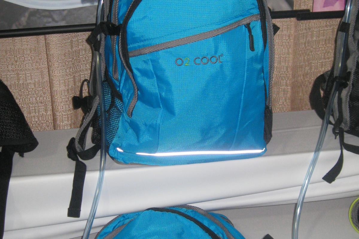 O2 Cool showed its new backpack line at the 2013 Outdoor Retailer Summer Market