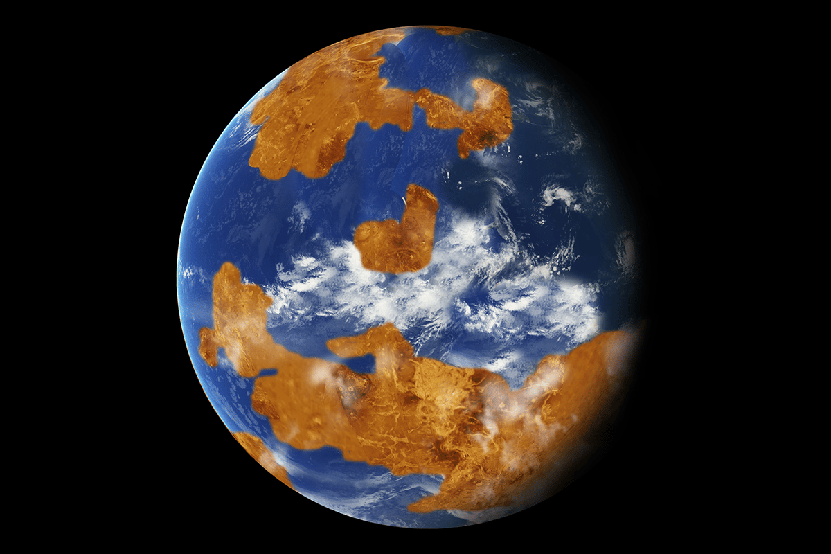 Simulations suggest that if ancient Venus had an ocean, tidal forces may have slowed the planet's rotation speed down to the point that the ocean evaporated