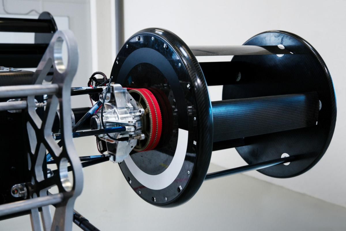 The Voith-Schneider propulsion system uses spinning barrels, each fitted with variable-pitch blades that re-orient themselves constantly as the barrel rotates to direct thrust