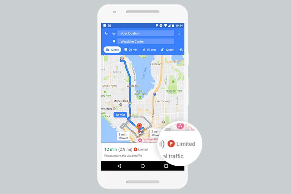 Google Maps is rolling out a parking difficulty icon
