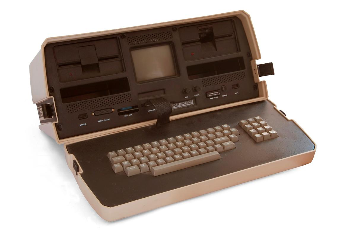Weighing in at a hefty 23.5 lb (10.7 kg), the Osborne 1 was the world's first commercially successful laptop