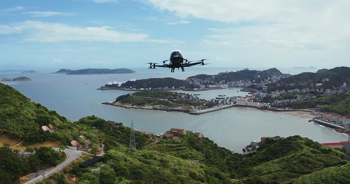 EHang's 216 autonomous aerial vehicle is now approved to carry over 150 kg of cargo