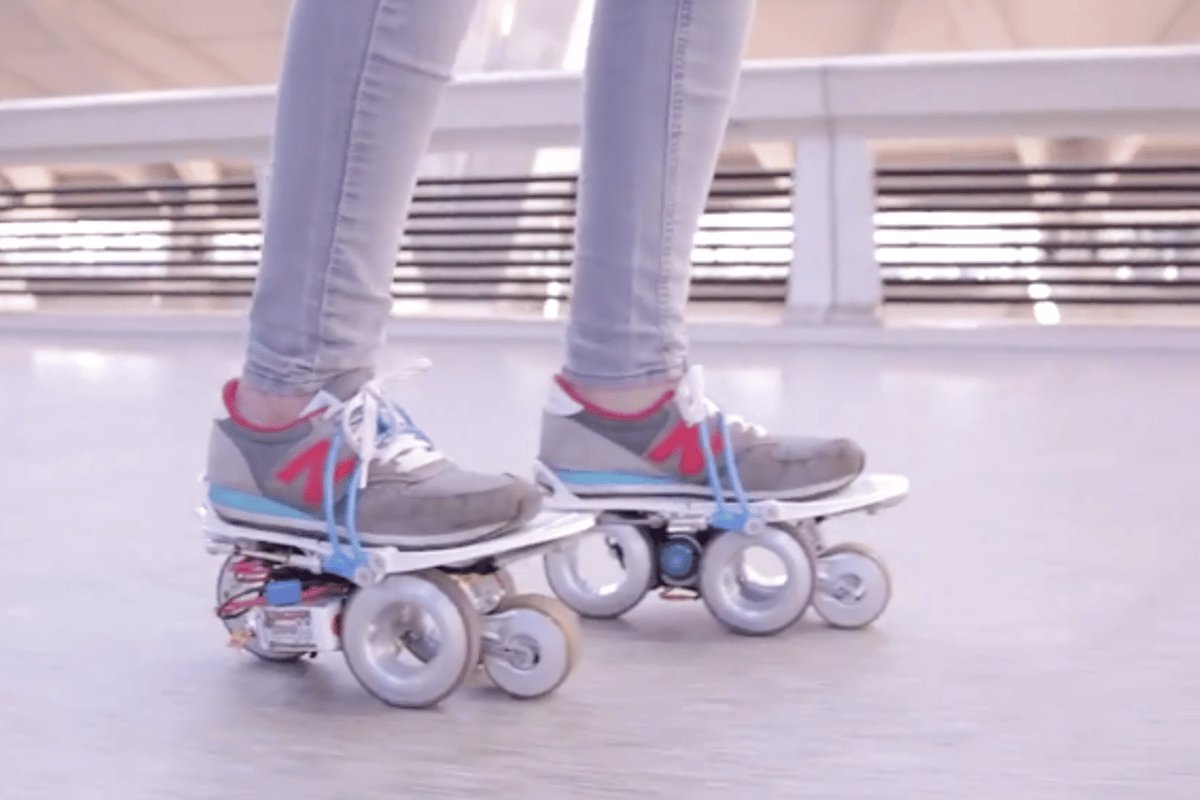 Rollkers are like motorized airport walkways on your feet