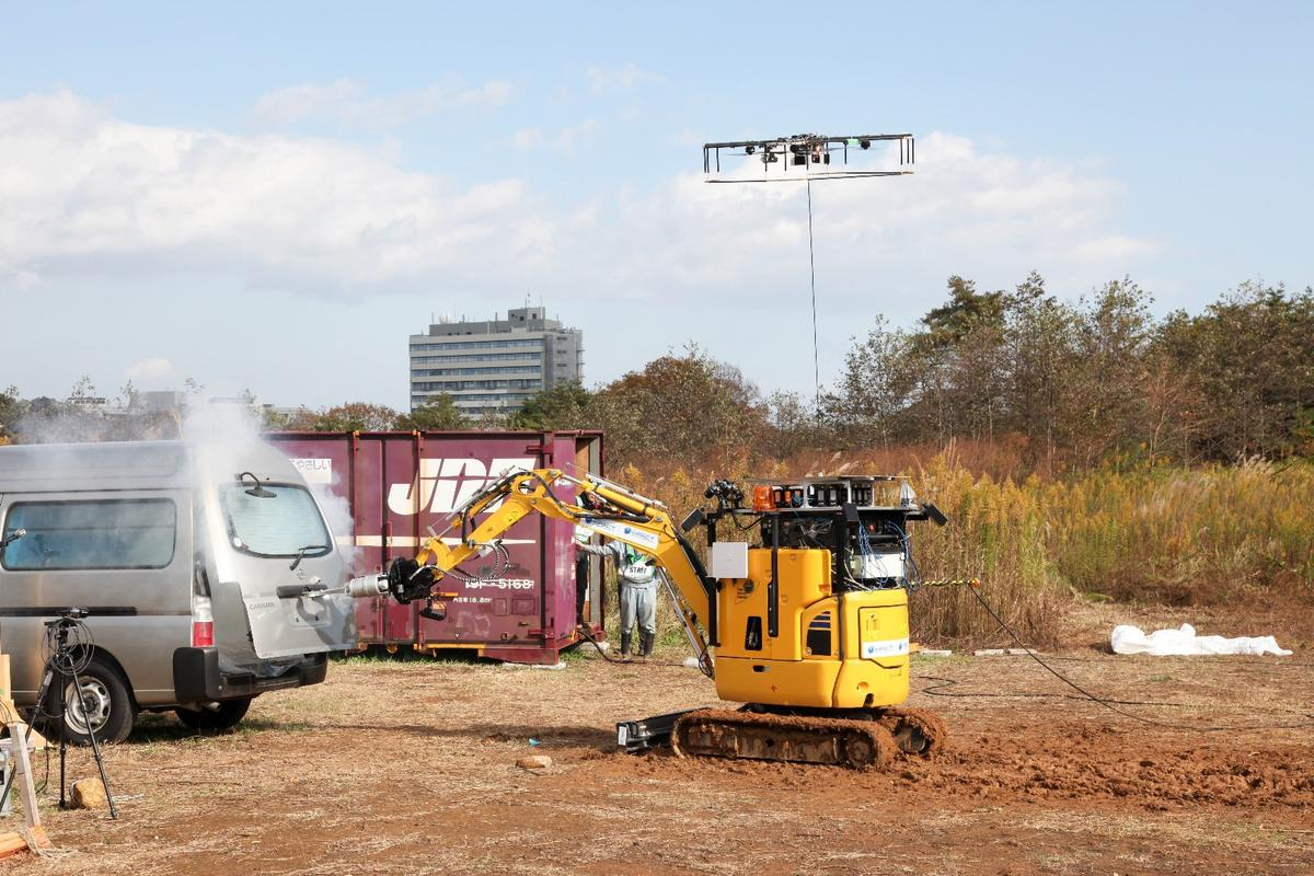 The robo-excavator in action