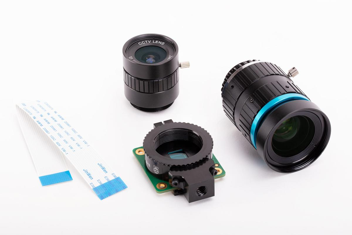 A CS-mount lens and a C-mount lens are being released to go with the Raspberry Pi High Quality Camera module