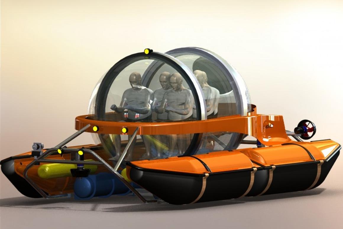 Rendering of the C-Explorer 5 five-seater submarine