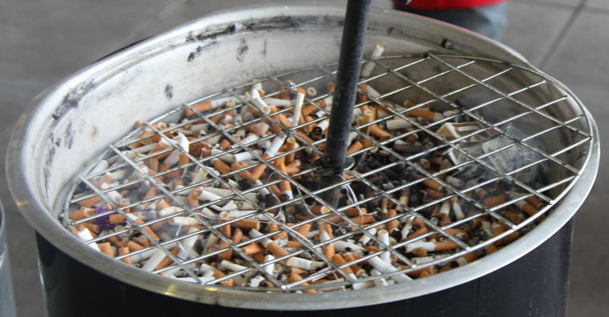 Cigarette butts contain chemicals that may keep steel from rusting