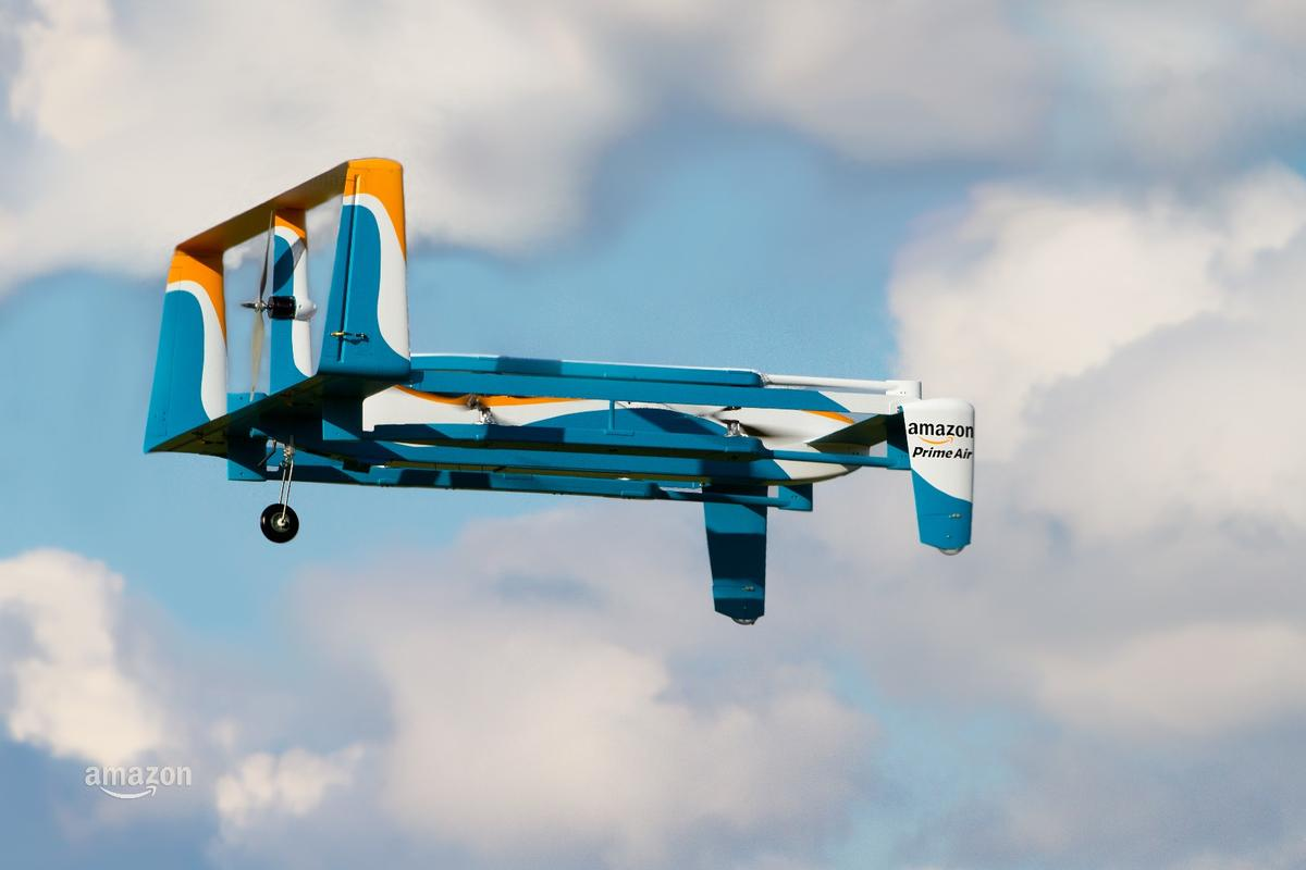 The new Amazon drone is designed to make deliveries in under 30 minutes
