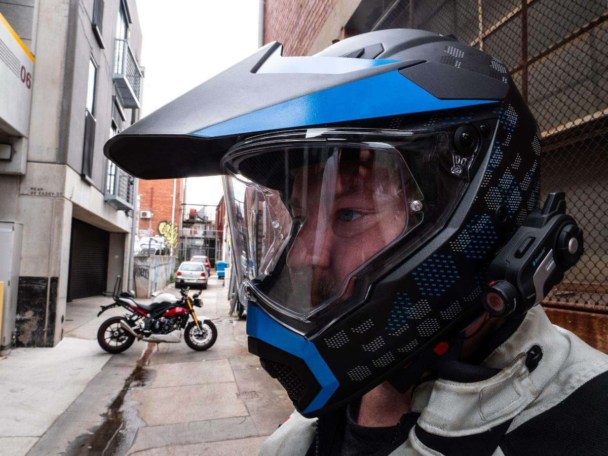 AGV's new AX-9 replaces its ten year old AX-8 adventure helmet with something slightly more road oriented