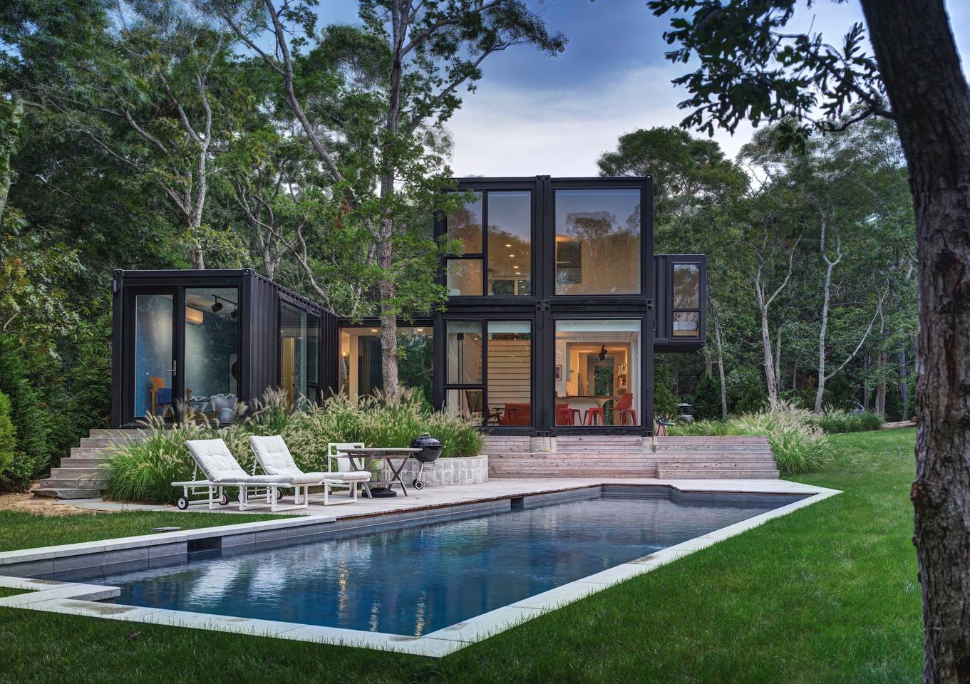 Amagansett Modular includes a pool in the garden