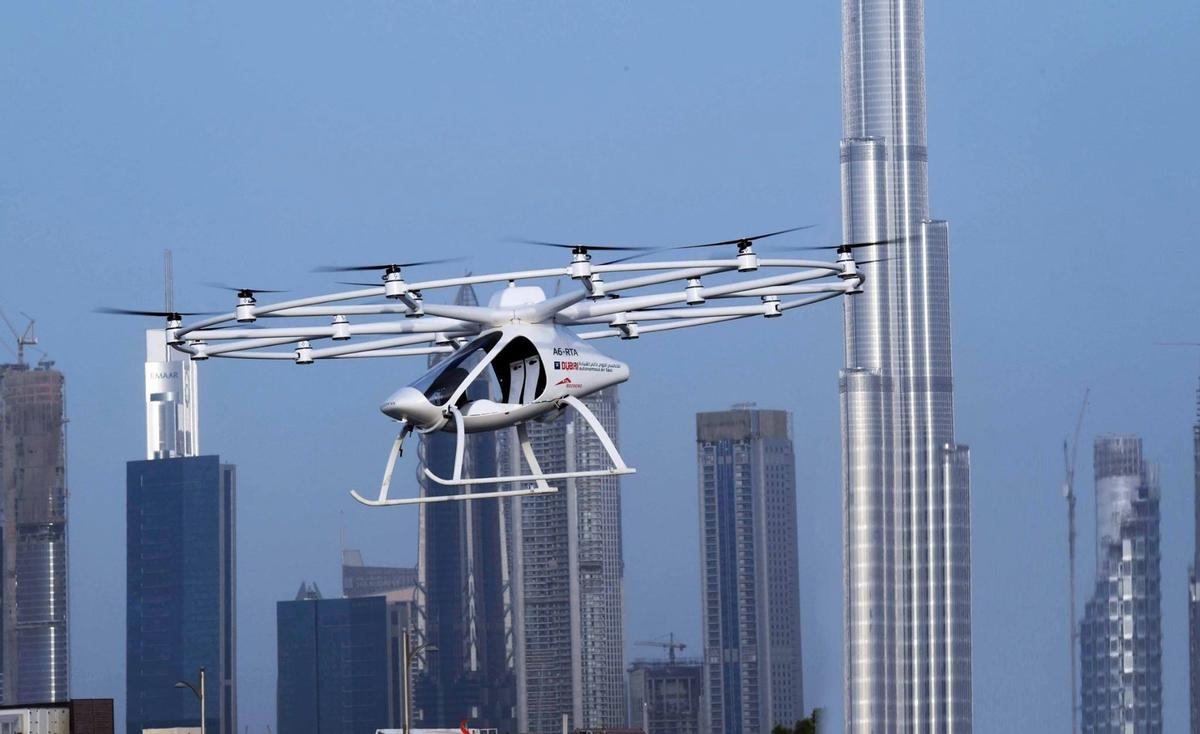 Dubai is moving full steam ahead toward a future skyline dotted with modern skyscrapers and flying taxis
