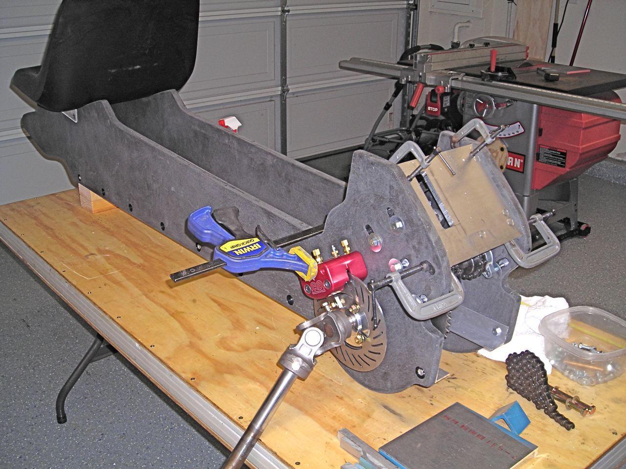 The Z-Kart under construction