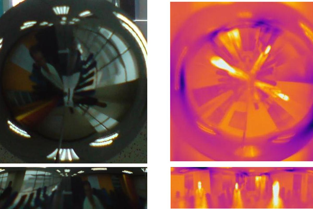 The omnidirectional thermal visualizer can view a scene in 360 degrees and monitor more than one lane at a time (Photo:MMU)